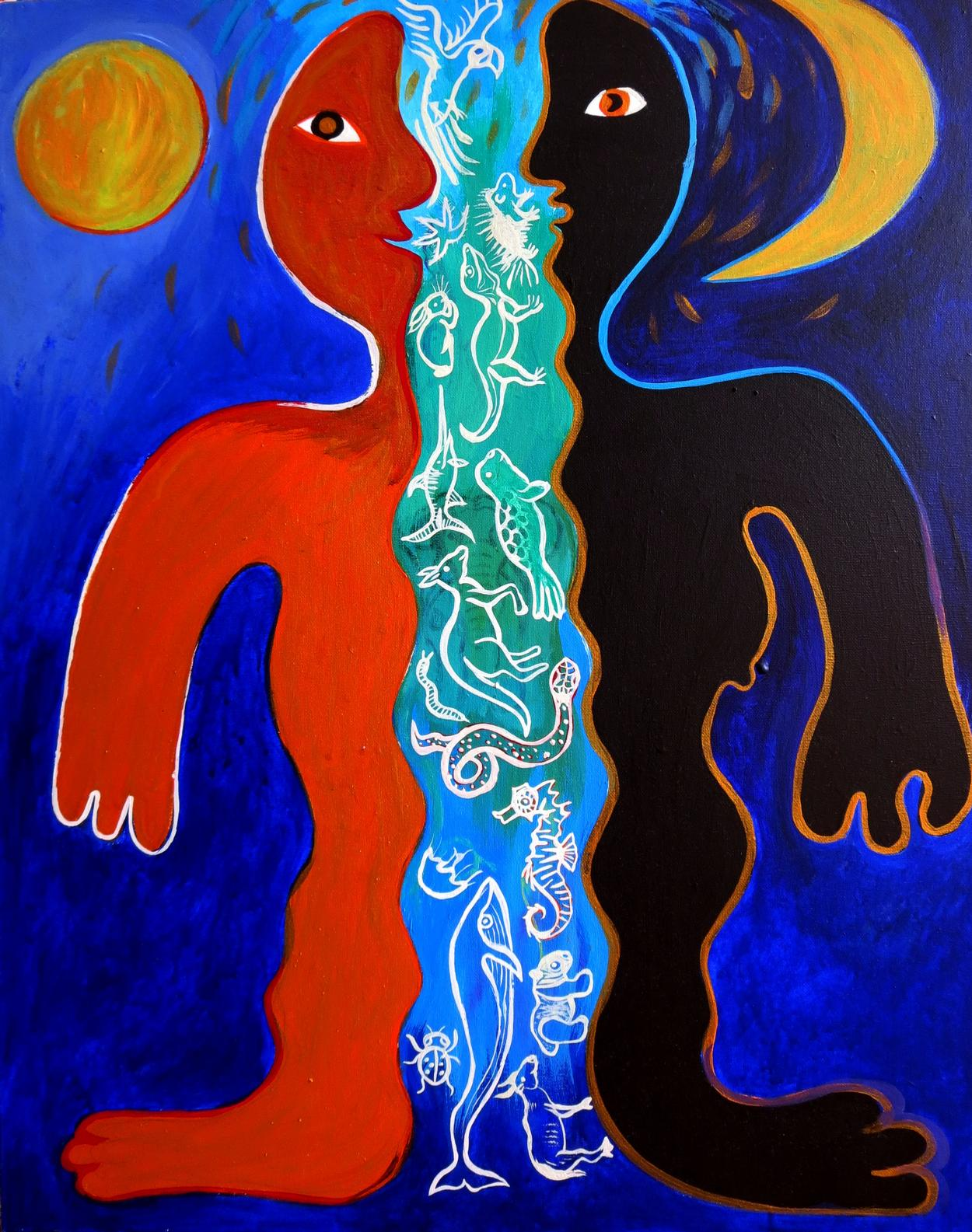 TWINS & THE DOUBLE | Shamanic teacher, painter and author in